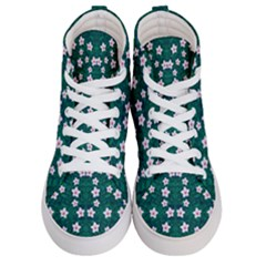 Porcelain Flowers  On Leaves Women s Hi-top Skate Sneakers