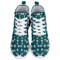 Porcelain Flowers  On Leaves Women s Lightweight High Top Sneakers