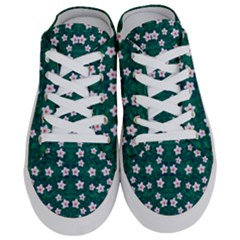 Porcelain Flowers  On Leaves Half Slippers