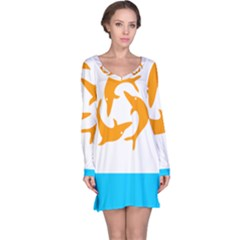 Flag Of Anguilla, 1967-1969) Long Sleeve Nightdress by abbeyz71