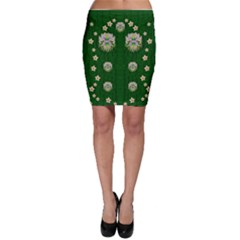 The Way To Freedom One Island One Gnome Bodycon Skirt