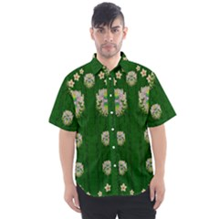 The Way To Freedom One Island One Gnome Men s Short Sleeve Shirt