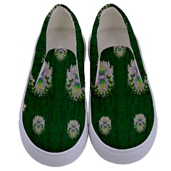 The Way To Freedom One Island One Gnome Kids  Canvas Slip Ons