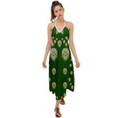 The Way To Freedom One Island One Gnome Halter Tie Back Dress