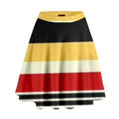 Contrast Yellow With Red High Waist Skirt