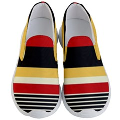 Contrast Yellow With Red Men s Lightweight Slip Ons by tmsartbazaar