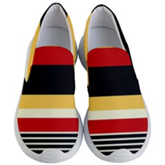 Contrast Yellow With Red Women s Lightweight Slip Ons by tmsartbazaar