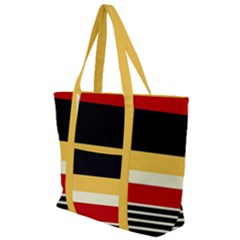 Contrast Yellow With Red Zip Up Canvas Bag