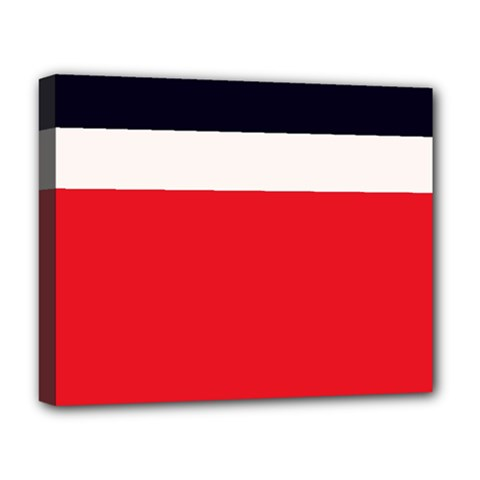 Navy Blue With Red Deluxe Canvas 20  X 16  (stretched) by tmsartbazaar