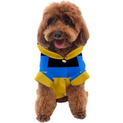 Bright Yellow With Blue Dog Coat by tmsartbazaar