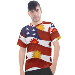 Flage Save Usa Corona Men s Sport Top