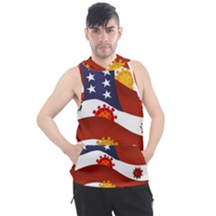 Flage Save Usa Corona Men s Sleeveless Hoodie