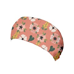 Flower Pink Brown Pattern Floral Yoga Headband
