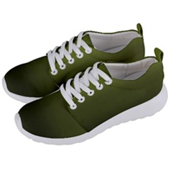 Army Green Gradient Color Men s Lightweight Sports Shoes by SpinnyChairDesigns