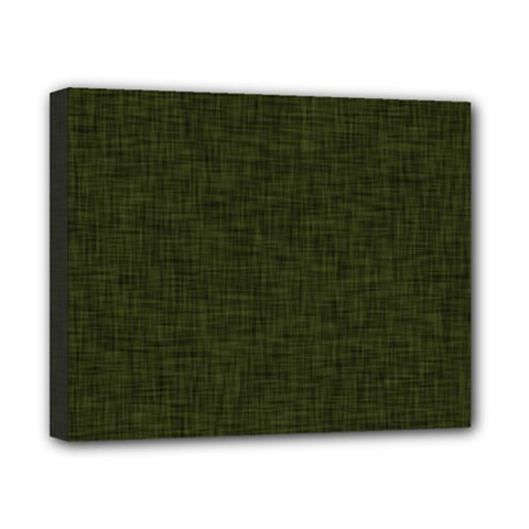 Army Green Texture Canvas 10  X 8  (stretched)