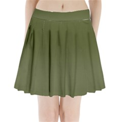 Army Green Color Ombre Pleated Mini Skirt by SpinnyChairDesigns