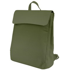 Army Green Color Ombre Flap Top Backpack by SpinnyChairDesigns