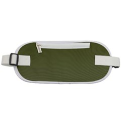 Army Green Color Ombre Rounded Waist Pouch by SpinnyChairDesigns