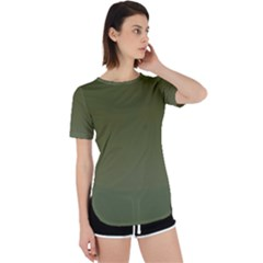 Army Green Color Ombre Perpetual Short Sleeve T-shirt by SpinnyChairDesigns