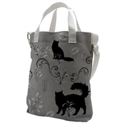Grey Cats Design  Canvas Messenger Bag