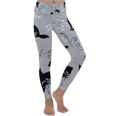 Grey Cats Design  Kids  Lightweight Velour Classic Yoga Leggings by Abe731