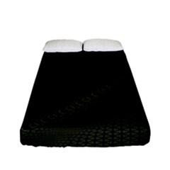 Army Green And Black Netting Fitted Sheet (full/ Double Size)