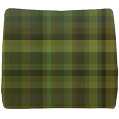 Army Green Color Plaid Seat Cushion