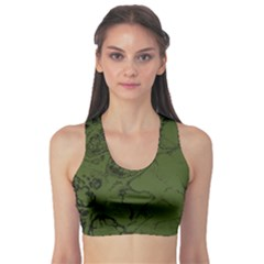 Amy Green Color Grunge Sports Bra