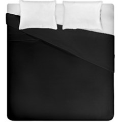 True Black Solid Color Duvet Cover Double Side (king Size) by SpinnyChairDesigns