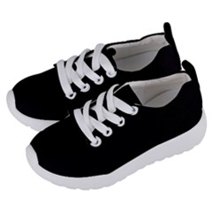 True Black Solid Color Kids  Lightweight Sports Shoes by SpinnyChairDesigns