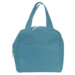 True Cadet Blue Teal Color Boxy Hand Bag by SpinnyChairDesigns
