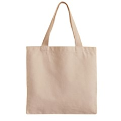 True Champagne Color Zipper Grocery Tote Bag