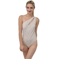 True Champagne Color To One Side Swimsuit by SpinnyChairDesigns
