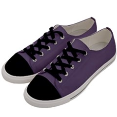Grape Compote Purple Color Men s Low Top Canvas Sneakers by SpinnyChairDesigns