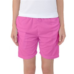 Hot Hollywood Pink Color Women s Basketball Shorts