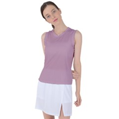 True Mauve Color Women s Sleeveless Sports Top by SpinnyChairDesigns