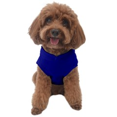 True Navy Blue Color Dog Sweater by SpinnyChairDesigns