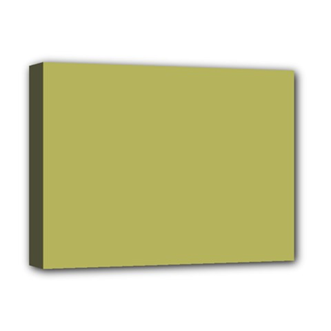 Olive Green Color Deluxe Canvas 16  X 12  (stretched)