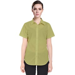 Olive Green Color Women s Short Sleeve Shirt