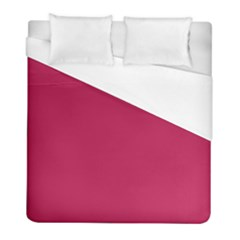 Rose Red Color Duvet Cover (full/ Double Size)