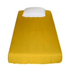 True Saffron Yellow Color Fitted Sheet (single Size) by SpinnyChairDesigns