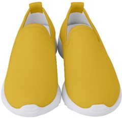 True Saffron Yellow Color Kids  Slip On Sneakers