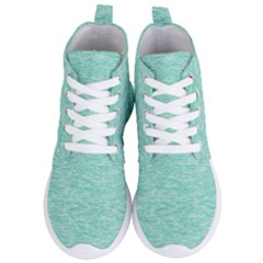 Biscay Green Texture  Women s Lightweight High Top Sneakers by SpinnyChairDesigns