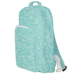 Biscay Green Texture  Double Compartment Backpack