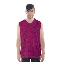 Fuschia Pink Texture Men s Basketball Tank Top