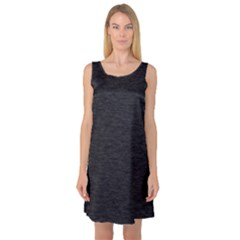 Black Color Texture Sleeveless Satin Nightdress by SpinnyChairDesigns