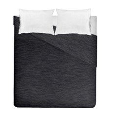 Black Color Texture Duvet Cover Double Side (full/ Double Size)