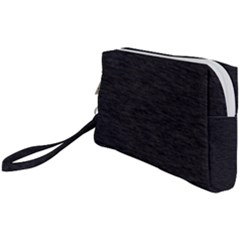 Black Color Texture Wristlet Pouch Bag (small) by SpinnyChairDesigns