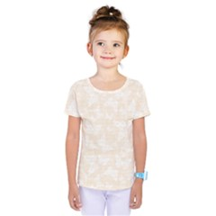 Champagne And White Butterflies Batik Kids  One Piece Tee