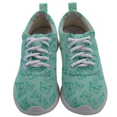 Biscay Green Monarch Butterflies Mens Athletic Shoes